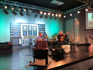 Harris Brothers play for App Theatre Benefit