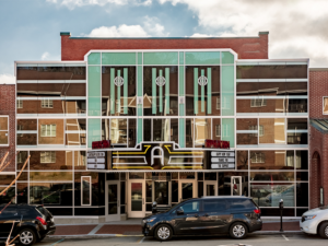 The front remodel of the Appalachian Theatre